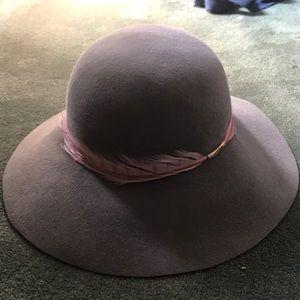 Eugenia Kim Blake Hat with Feather Trim